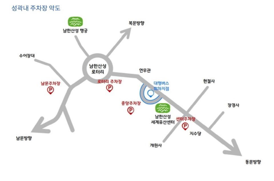 남한산성 주차장 지도